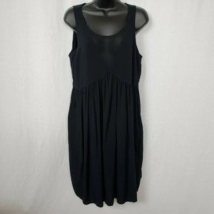 Thyme Women's Strapless Mesh Front Dress Medium